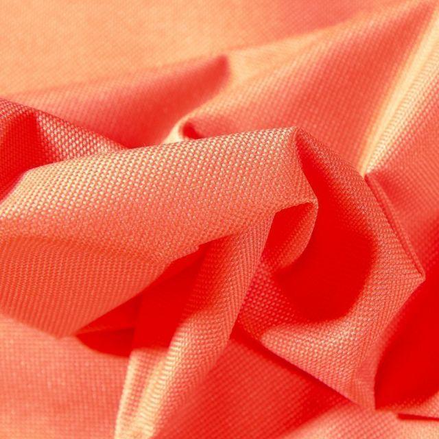 Tissu Toile à sac envers PVC déperlant ultra robuste Corail - Par 10 cm