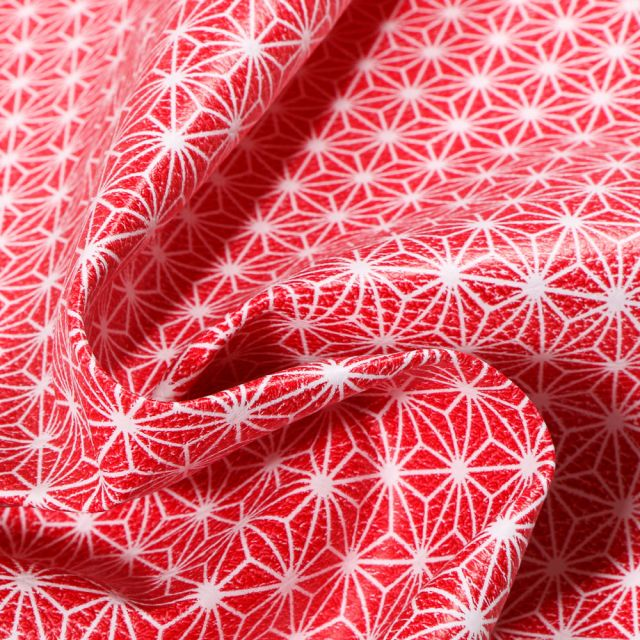Tissu Simili cuir d'ameublement Casual Rouge