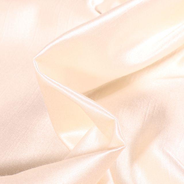 Tissu Taffetas d'ameublement Bombyx Ecru