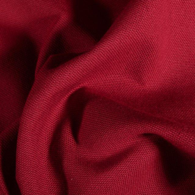 Tissu Toile de coton uni Grande largeur Rouge griotte - Par 10 cm