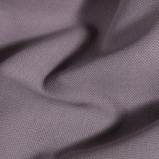 Tissu Toile de coton uni Grande largeur Gris souris - Par 10 cm