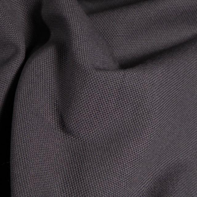 Tissu Toile de coton uni Grande largeur Gris acier - Par 10 cm