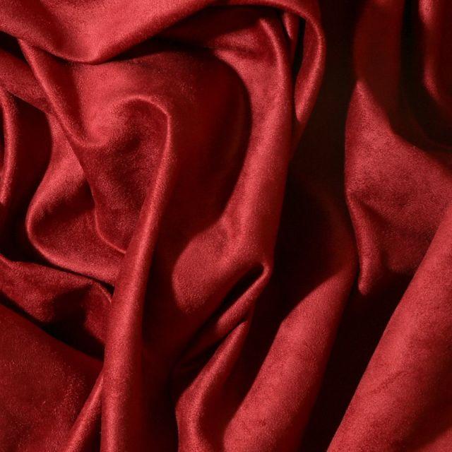 Tissu Suédine d'ameublement Bordeaux - Par 10 cm