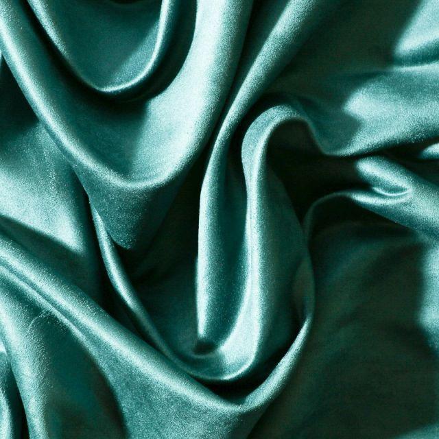 Tissu Suédine d'ameublement Bleu canard - Par 10 cm