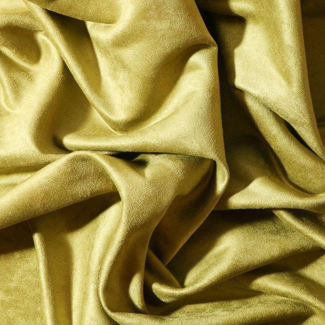 Tissu Suédine d'ameublement Vert fenouil - Par 10 cm