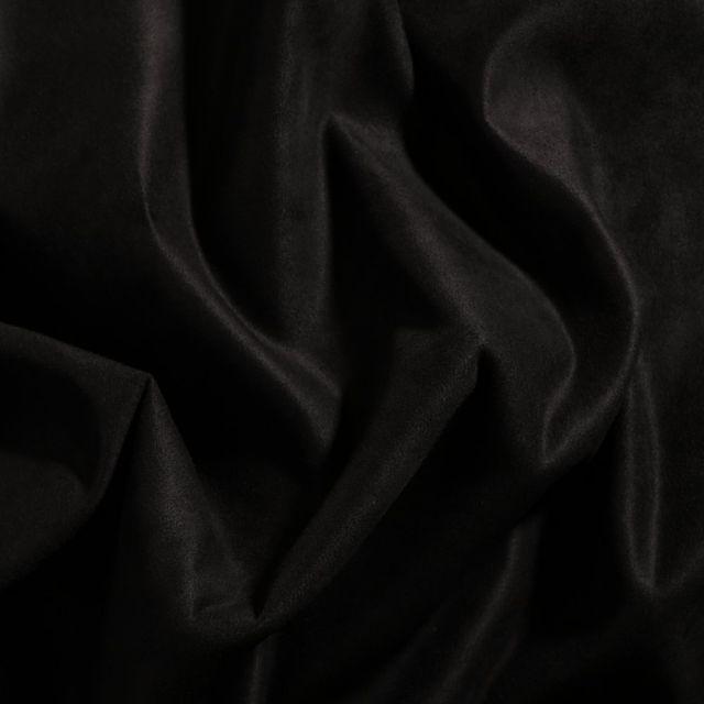 Tissu Suédine d'ameublement Noir - Par 10 cm
