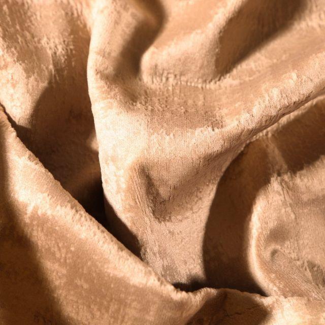 Tissu Velours d'ameublement Illusion Taupe - Par 10 cm
