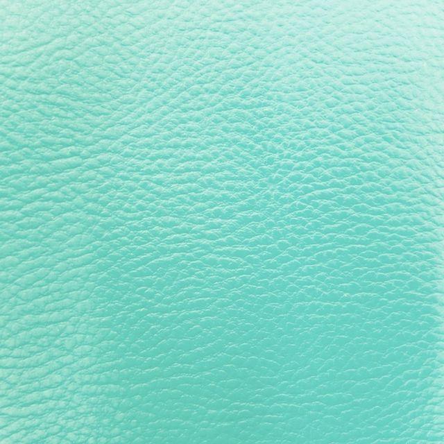 Simili cuir d'ameublement uni Menthe - Par 50 cm
