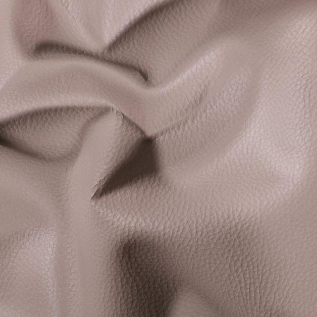 Simili cuir d'ameublement uni Gris pierre - Par 50 cm