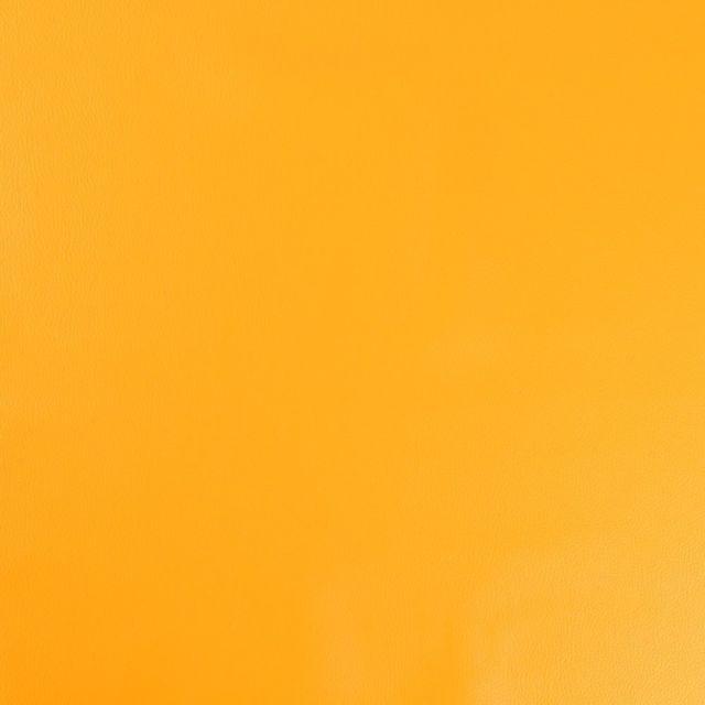Simili cuir d'ameublement uni Moutarde - Par 50 cm