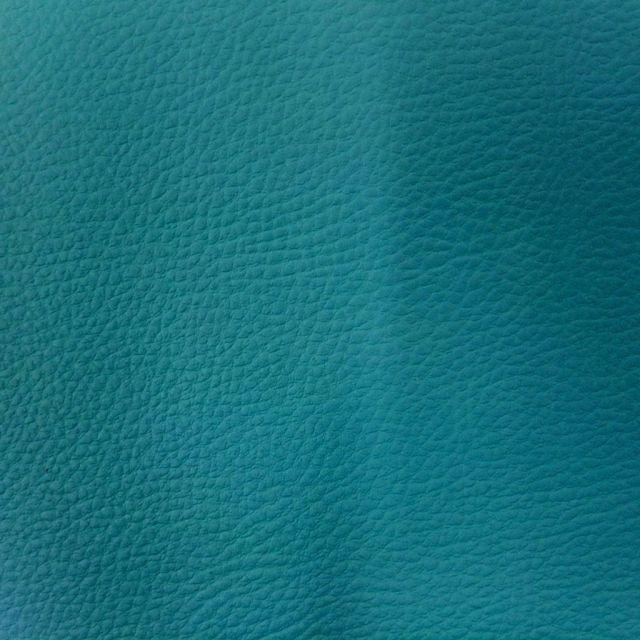 Simili cuir d'ameublement uni Bleu canard - Par 50 cm