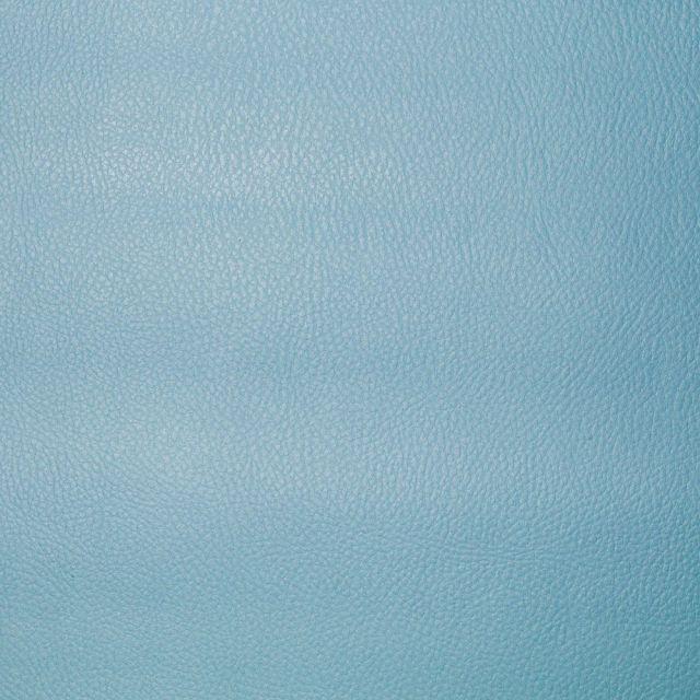 Simili cuir d'ameublement uni Bleu ciel - Par 50 cm