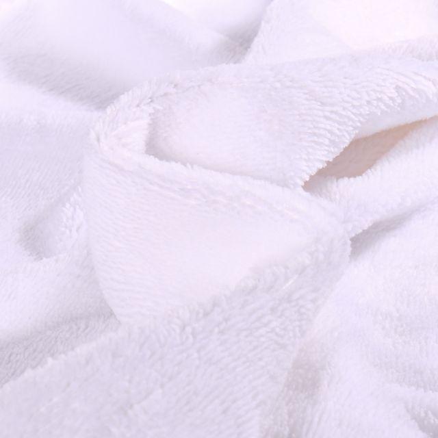 Tissu Micro Éponge Bambou Téa Blanc