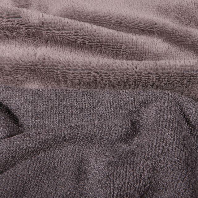 Tissu Micro Éponge Bambou Téa Gris acier