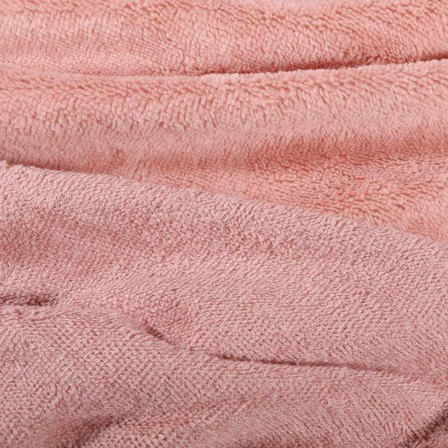 Tissu Micro Éponge Bambou Téa Rose nude
