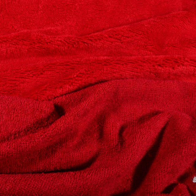 Tissu Micro Éponge Bambou Téa Rouge