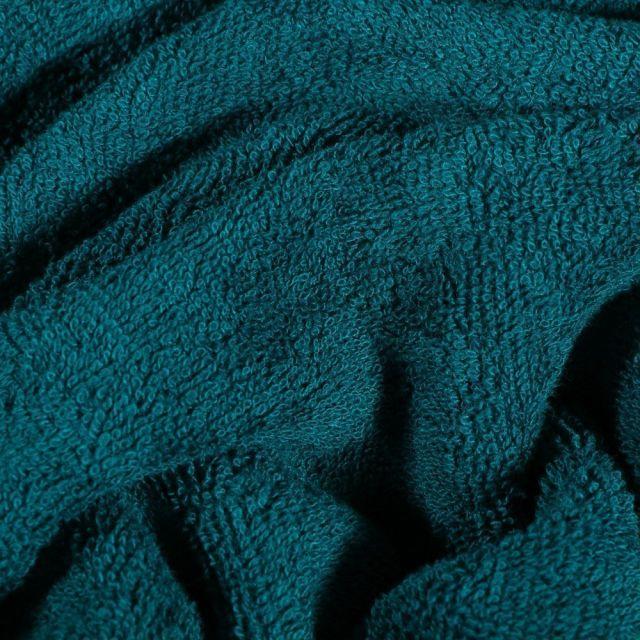 Tissu Eponge Bambou épais Bleu pétrole - Par 10 cm