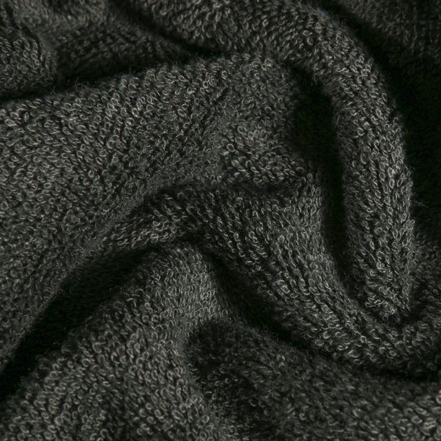 Tissu Eponge Bambou épais Gris anthracite - Par 10 cm
