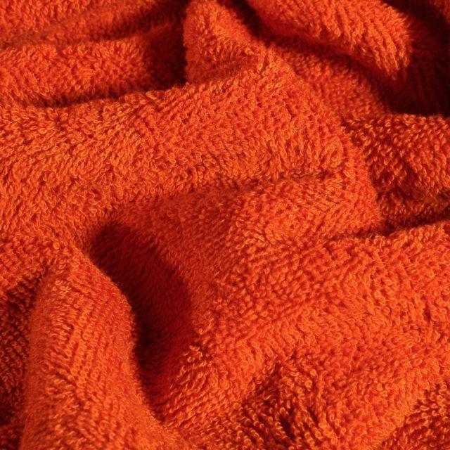 Tissu Eponge Bambou épais Orange - Par 10 cm