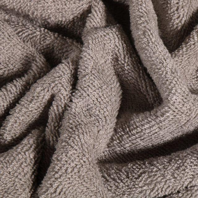 Tissu Eponge Bambou épais Gris galet - Par 10 cm