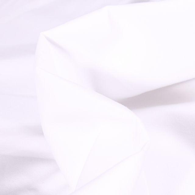 Tissu Popeline de coton mercerisé uni Elise Blanc