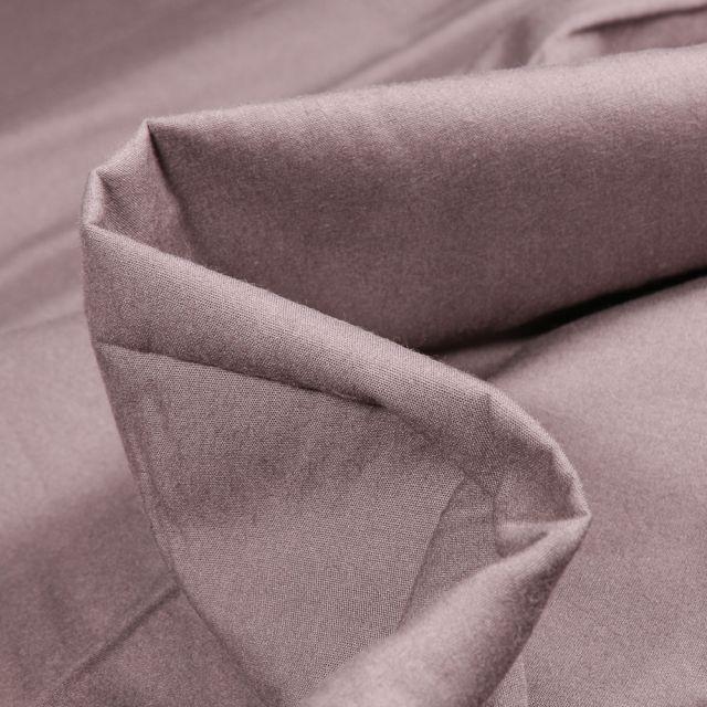Tissu Popeline de coton mercerisé uni Elise Gris acier