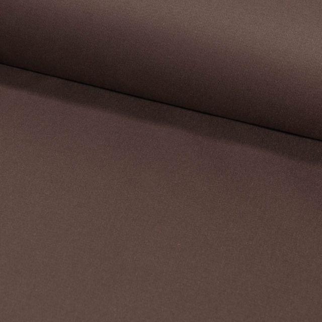 Tissu Coton Sergé d'ameublement uni Marron Chocolat - Par 10 cm