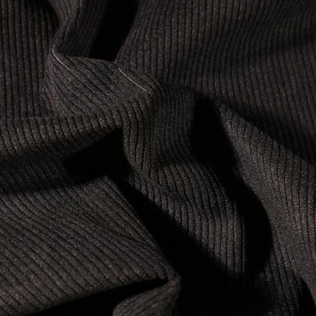 Tissu Velours d'ameublement côtelé Lena Noir - Par 10 cm