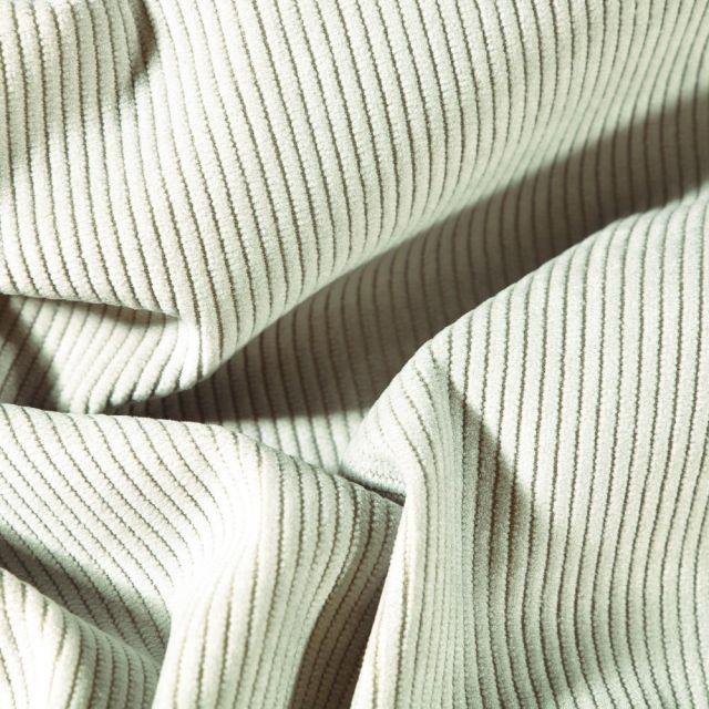 Tissu Velours d'ameublement côtelé Lena Gris - Par 10 cm