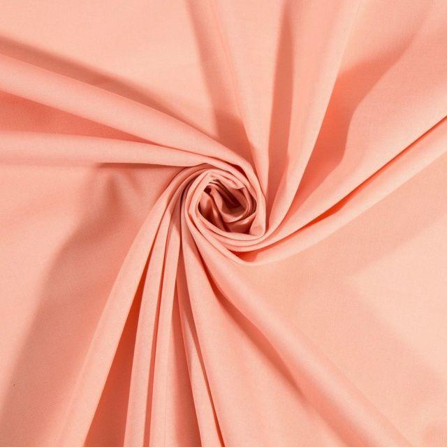 Tissu Popeline de coton uni Poudrée Craftine - Par 10 cm