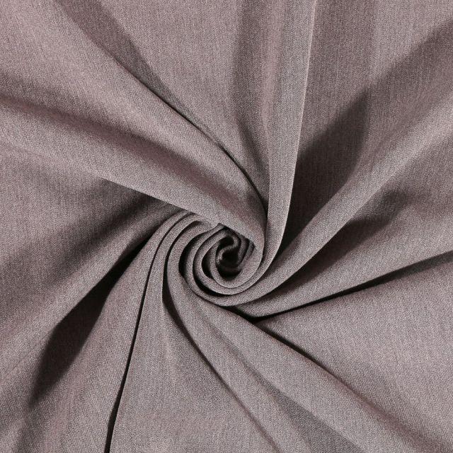 Tissu Sergé Viscose Craftine gris chiné - Par 10 cm