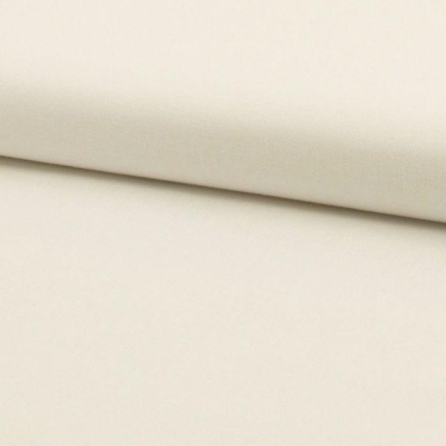 Tissu Coton uni Ecru - Par 10 cm