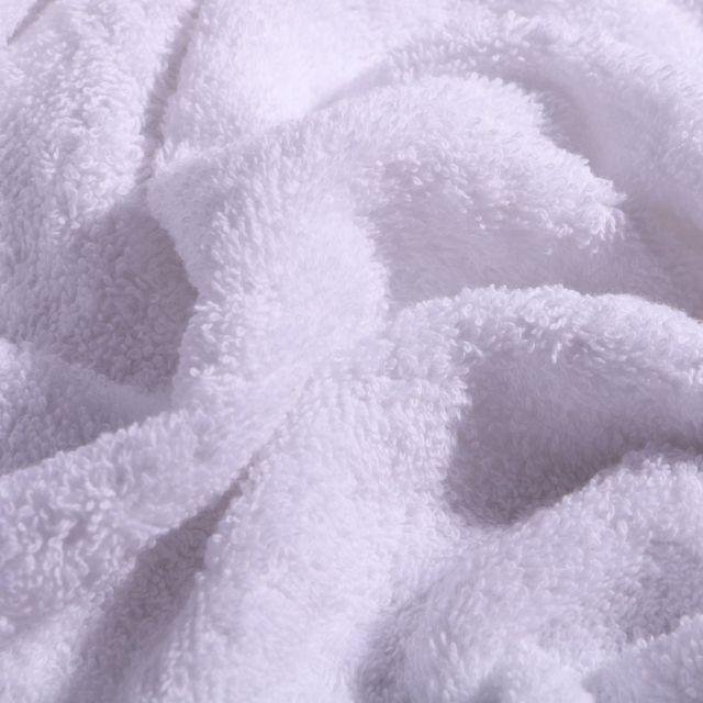 Tissu Eponge Premium 400 g/m² Blanc - Par 10 cm