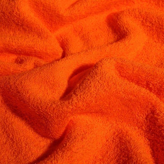 Tissu Eponge Premium 400 g/m² Orange - Par 10 cm