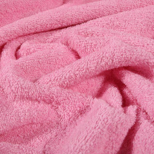 Tissu Eponge Premium 400 g/m² Rose - Par 10 cm