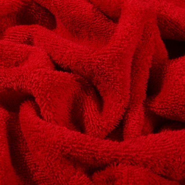 Tissu Eponge Premium 400 g/m² Rouge hermes - Par 10 cm