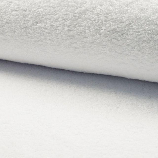 Tissu Eponge légère 320 g/m² Blanc - Par 10 cm