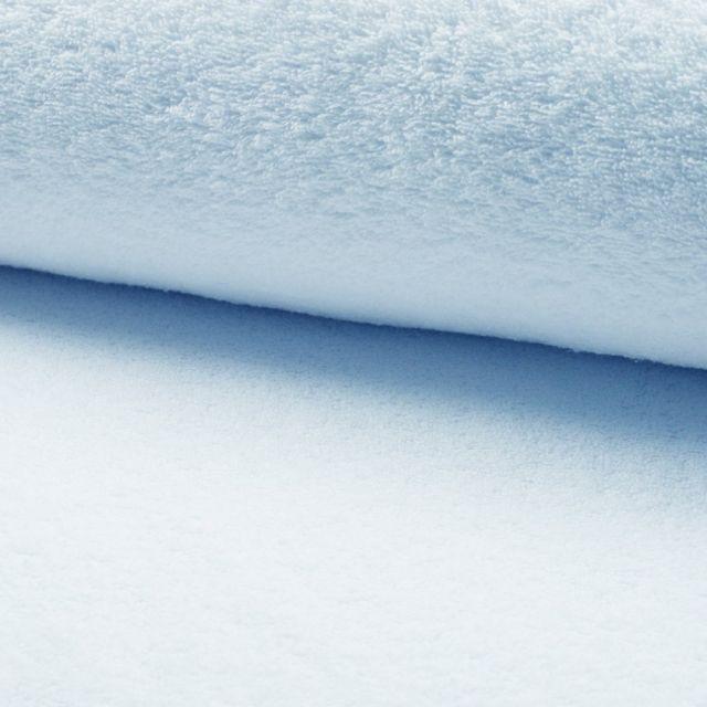 Tissu Eponge légère 320 g/m² Bleu clair - Par 10 cm