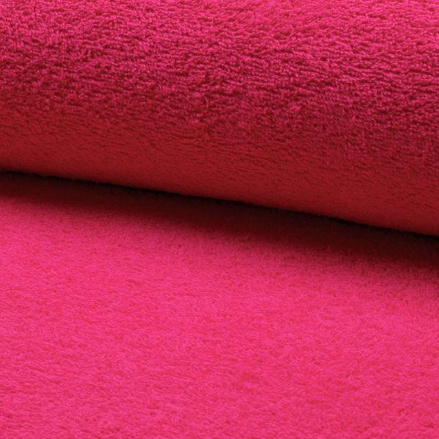 Tissu Eponge légère 320 g/m² Fuschia - Par 10 cm
