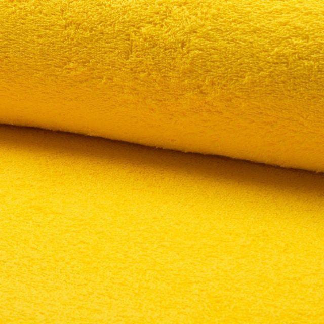 Tissu Eponge légère 320 g/m² Jaune - Par 10 cm