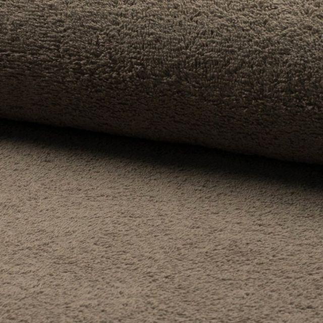Tissu Eponge légère 320 g/m² Marron - Par 10 cm