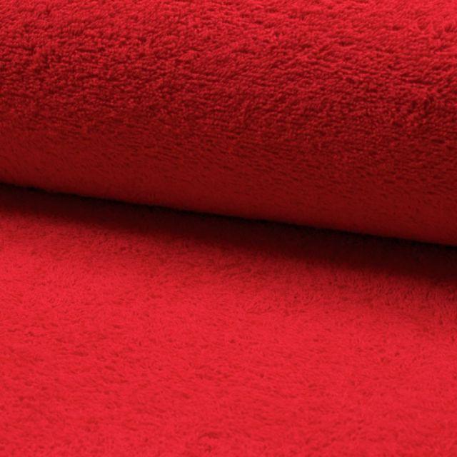 Tissu Eponge légère 320 g/m² Rouge - Par 10 cm