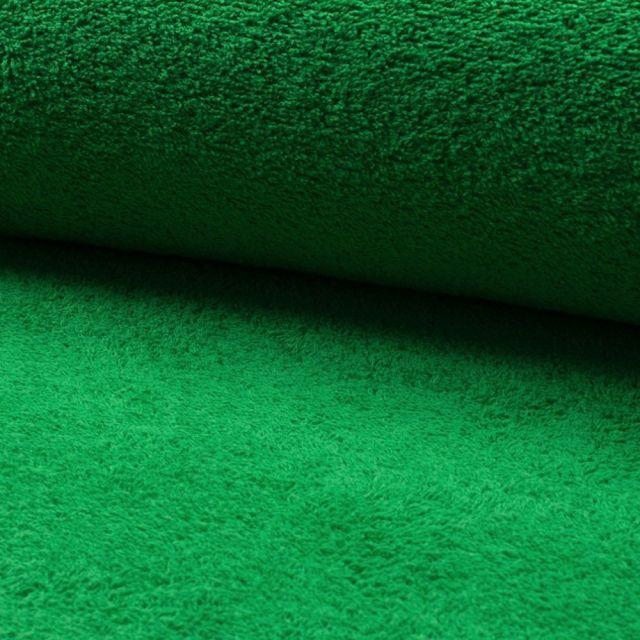 Tissu Eponge légère 320 g/m² Vert golf - Par 10 cm