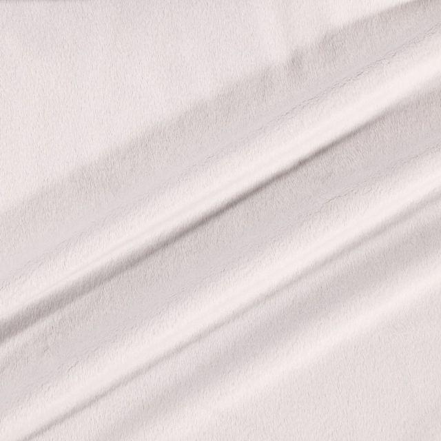 Tissu Minky Ultra doux Ras Gris Clair x10cm