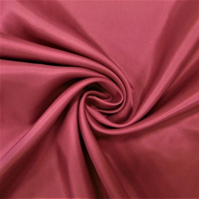 Tissu Doublure Pongé Bordeaux - Par 10 cm