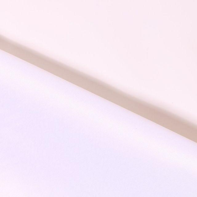 Tissu Toile à sac envers PVC déperlant ultra robuste Blanc - Par 10 cm
