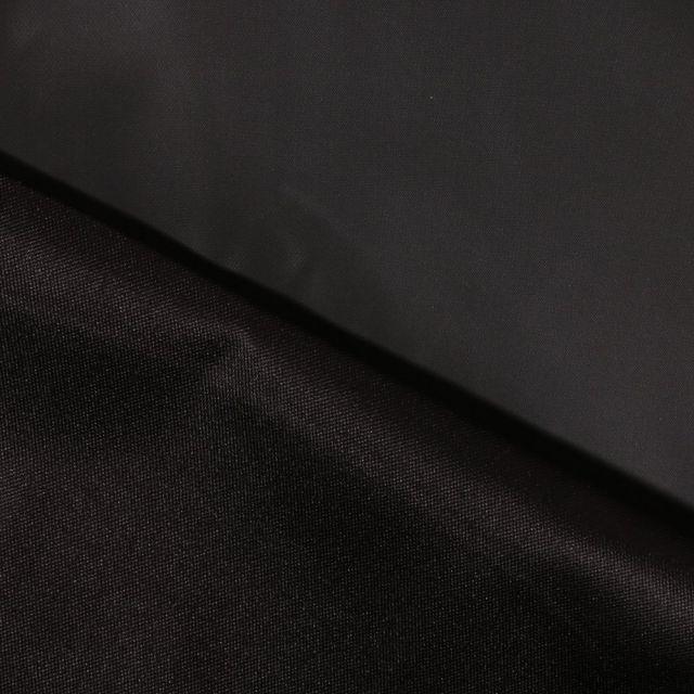 Tissu Toile à sac envers PVC déperlant ultra robuste Noir - Par 10 cm