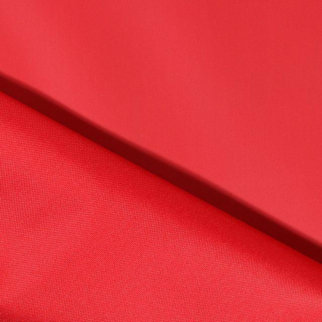 Tissu Toile à sac envers PVC déperlant ultra robuste Rouge - Par 10 cm