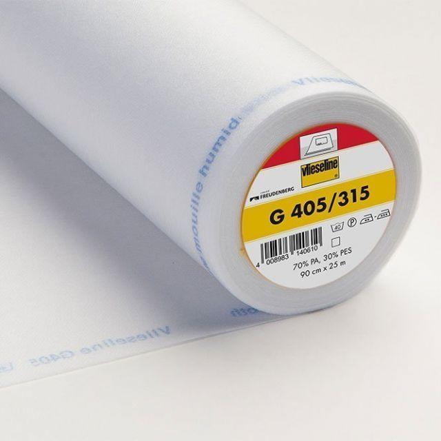 Entoilage Thermocollant Vlieseline G405 Blanc - Par 10 cm