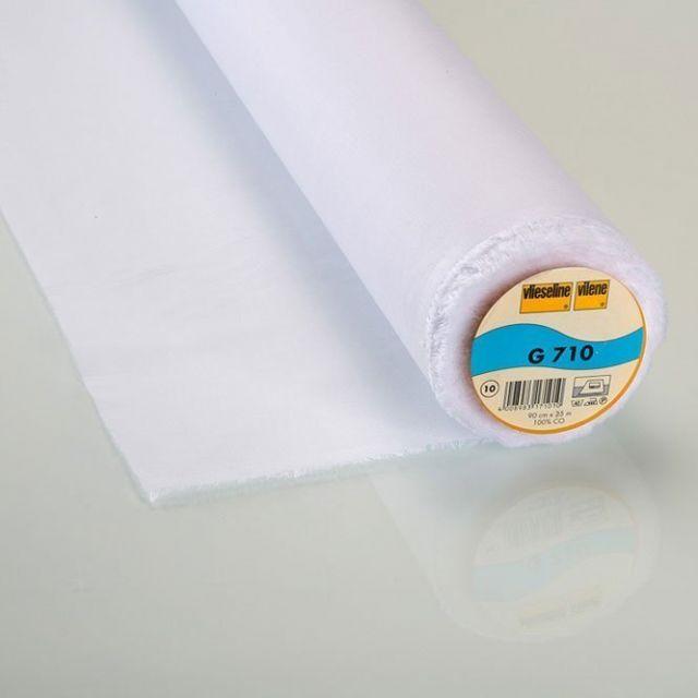 Entoilage Tissé Thermocollant Vlieseline G710 Blanc - Par 10 cm